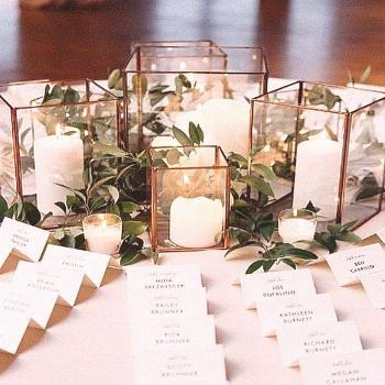 15 Simple and Elegant Wedding Escort Table Decoration Ideas - Oh Best Day Ever