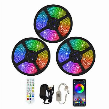 ANGROC Led Strip Lights, 50Ft Music Sync Color Changing
