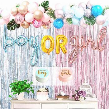 Boy Or Girl Gender Reveal Party Supplies Kit, Simnuply 124