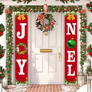 Christmas Decorations Outdoor - JOY NOEL Porch Signs Banners