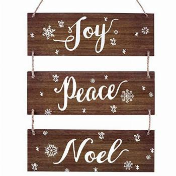 Christmas Rustic Hanging Signs Decoration Winter Large