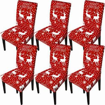 GoodtoU Chair Covers for Dining Room Christmas Dining Chair