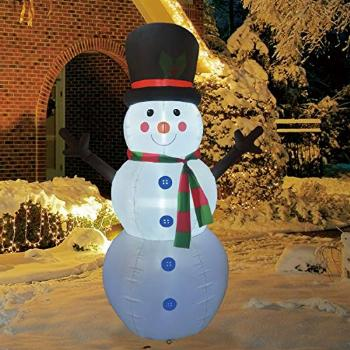 GOOSH 6Foot High Christmas Inflatable Blow up Snowman Yard