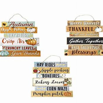 Greenbrier Fall Decoration Hanging Indoor Outdoor Welcome