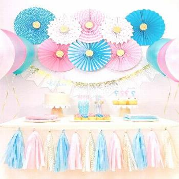 Is it a boy or a girl? Make your guests guess the gender of your baby with this Blue and Pink Party