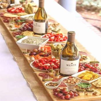 Let's Celebrate // Wine and cheese summer party idea.