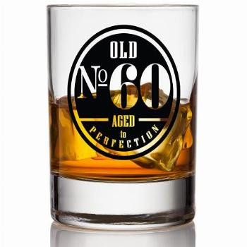 Old No. 60 Whiskey Glass For Men - 60th Birthday Gifts for
