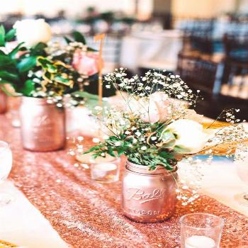 Rose gold party decorations are perfect for all kinds of party themes. Check out how they were used