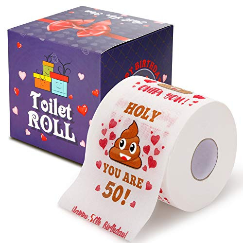 50th Birthday Gifts for Men and Women - Happy Prank Toilet