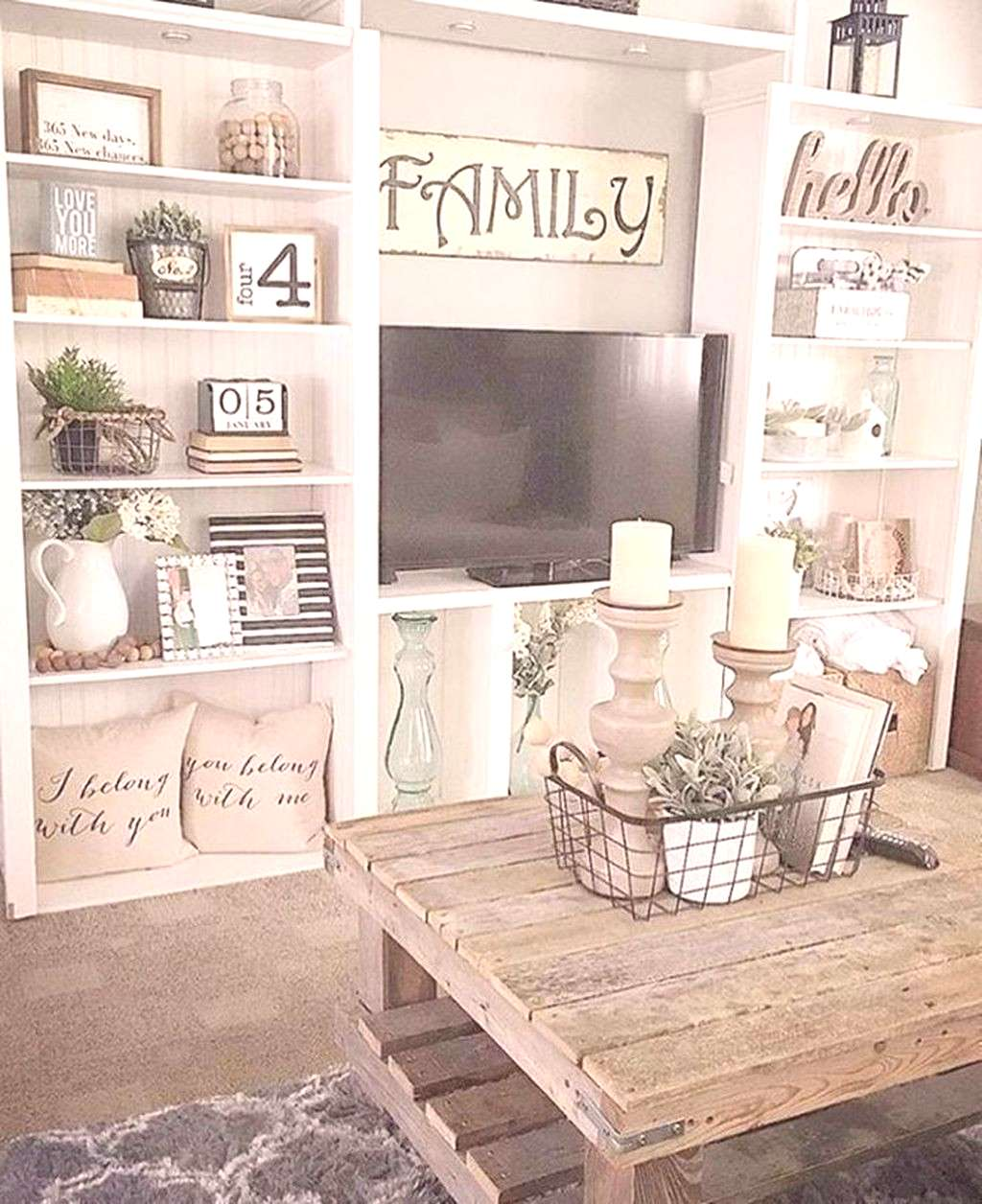 Adorable 36 Charming Farmhouse Living Room Decoration Ideas For Home.