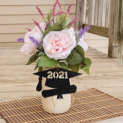 Black 2021 Tags Class of 2021 Graduation Party Decorations