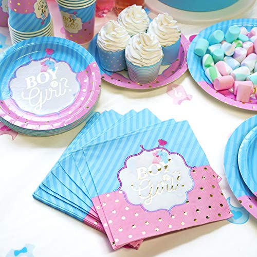 Decorlife Baby Gender Reveal Party Supplies Serves 8, Cute