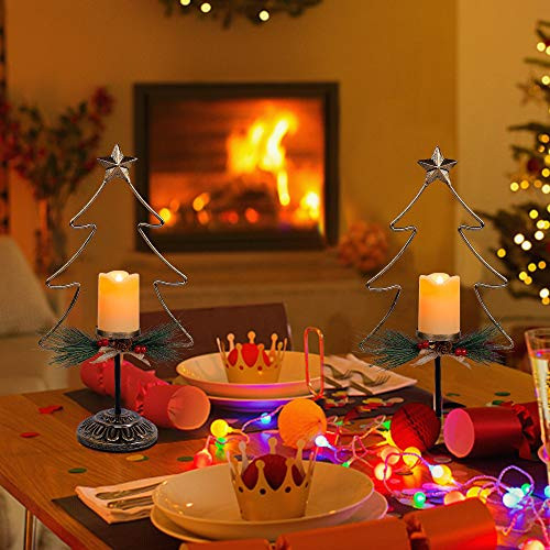FORUP Lighted Christmas Table Decorations, Battery Operated