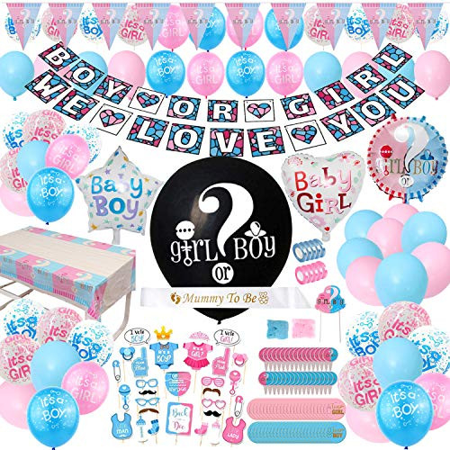 Gender Reveal Party Supplies - (200 Pieces) 36 Inch Reveal