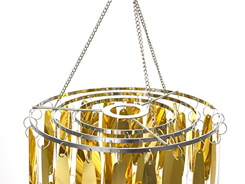 Gold Bling Hanging Chandelier, 10x20inch Spangle