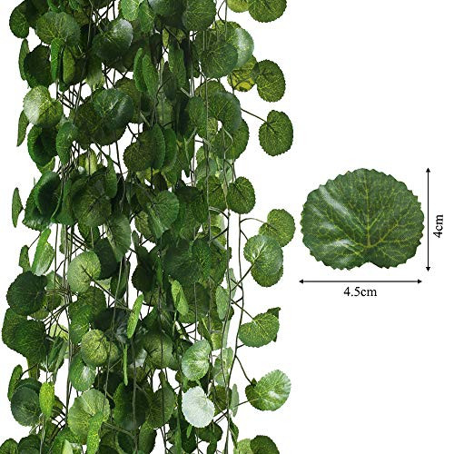 HO2NLE 12 Pack 84 Feet Artificial Fake Hanging Vines Plant