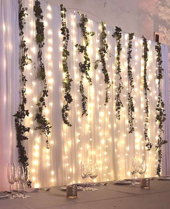 LED String Lights Create a Simple and Gorgeous Backdrop for Under $100!