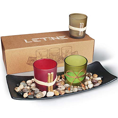 LETINE Cute Candle Holders Set Fit in LED Lights.