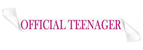 Sterling James Co. Official Teenager White and Pink Glitter