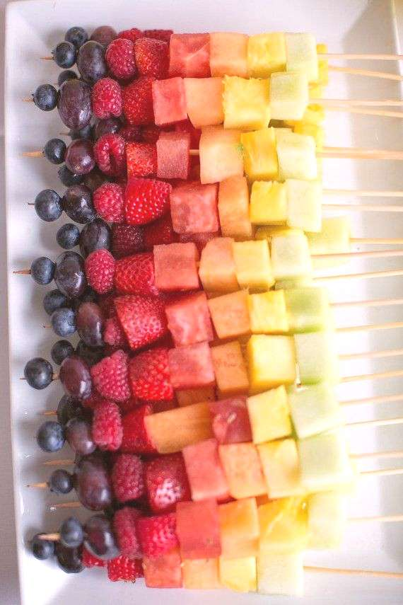 Summer fruit kebabs are a delicious and healthy summer party food idea that everyone will love!