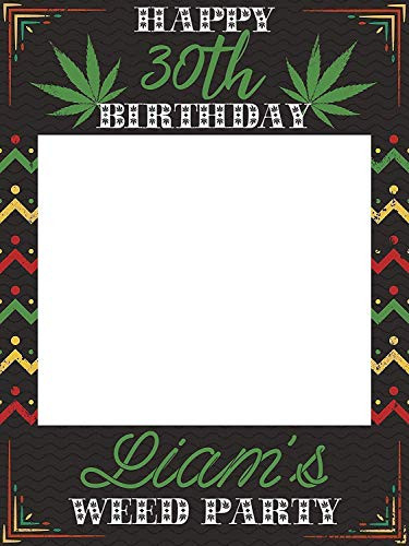 Weed Birthday Party Photo Booth, Rasta Theme Party